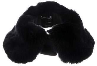 Manrico Cashmere Fur-Trimmed Cashmere Collar