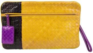 Bottega Veneta Yellow Leather Clutch Bag