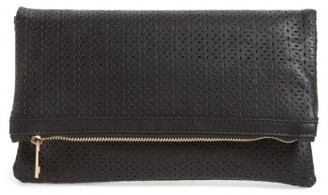 Bp. Perforated Fold Over Clutch - Black $25 thestylecure.com