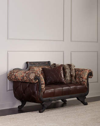 Old Hickory Tannery Andreas Leather Tufted Settee