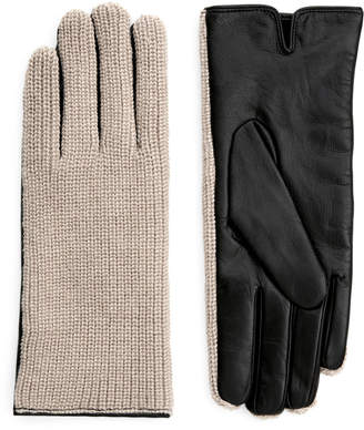 Arket Alpaca & Leather Gloves