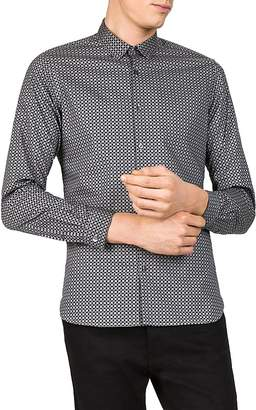 The Kooples Silver Gems Slim Fit Button-Down Shirt