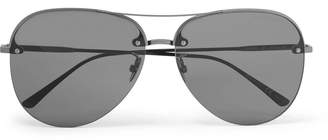 Bottega Veneta Aviator-Style Silver-Tone Sunglasses