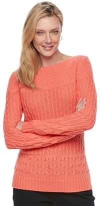 Croft & Barrow Women's Textured Sweater