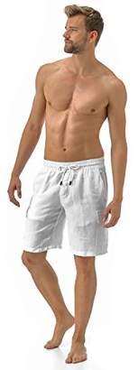 Vilebrequin Men's Solid Linen Bermuda-XXXL