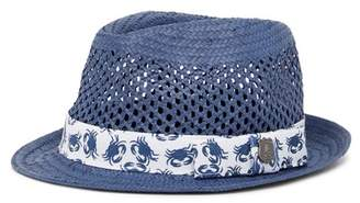 Nick Graham Open Weave Straw Fedora