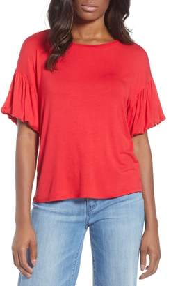 Bobeau Knit Bubble Sleeve Tee
