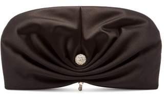 Jimmy Choo Vivien Satin Clutch Bag - Womens - Black