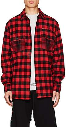 Marcelo Burlon County of Milan Men's Pit-Bull Cotton-Blend Flannel Shirt