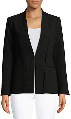 Halston H Inverted Pleat Blazer