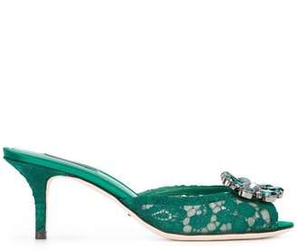 Dolce & Gabbana lace embellished sandals
