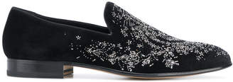 Alexander McQueen embroidered slippers