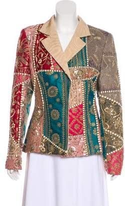 Gianfranco Ferre Embroidered Notched-Lapel Blazer