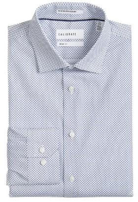 Men's Calibrate Trim Fit Stretch Geometric Dress Shirt $69.50 thestylecure.com
