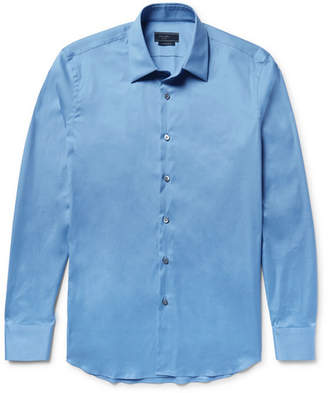 Prada Stretch Cotton-Blend Poplin Shirt