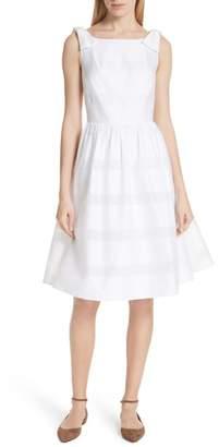 Kate Spade Tonal Stripe Fit & Flare Dress
