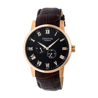 Heritor Unisex Brown Strap Watch-Herhr6406