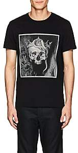 "Alexander McQueen Men's ""Skull King"" Cotton T-Shirt - Black"