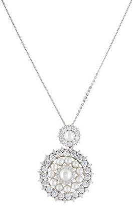 Angélique de Paris Sterling Pearl & Cubic Zirconia Madame Pendant Necklace