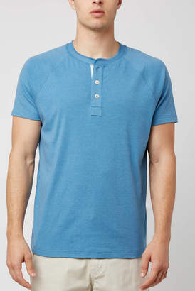 The Normal Brand River Blue Puremeso Henley Blue XXL