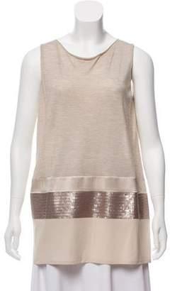 Fabiana Filippi Embellished Cashmere-Blend Top w/ Tags