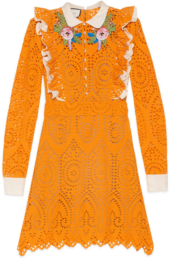 GucciBroderie Anglaise cotton dress