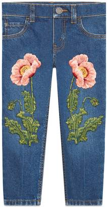 Children's denim pant with embroidery $655 thestylecure.com