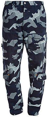 Valentino Men's Camo Denim Cargo Pants