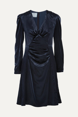 Prada - Ruched Velvet Dress - Midnight blue $2,070 thestylecure.com