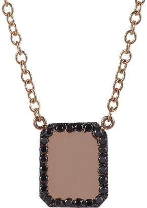 Finn Women's Black Diamond & Rose Gold Looking-Glass Scapular Necklace