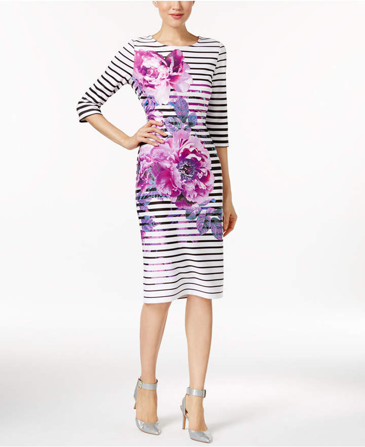 ECI Printed Sheath Dress 2