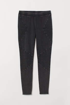 H&M H&M+ Jersey Biker Leggings - Gray