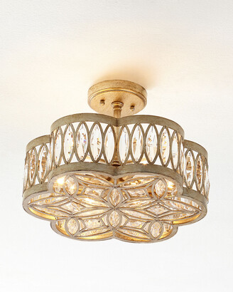 John-Richard Collection John Richard Collection Diamante Six-Light Semi-Flush Ceiling Light