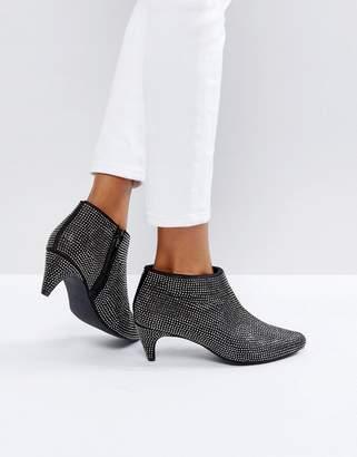 New Look Rhinestone Heeled Ankle Boot