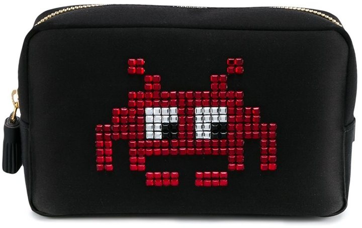 Anya HindmarchAnya Hindmarch Space Invaders Make-Up Pouch