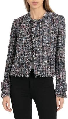 Bagatelle Collarless Tweed Jacket