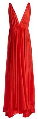 Kalita - Clemence Silk Habotai Maxi Dress - Womens - Red