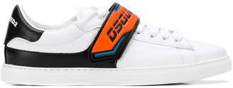 DSQUARED2 branded strap lo-top sneakers