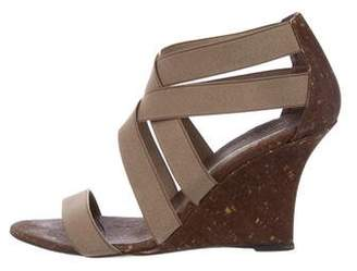 Manolo Blahnik Crossover Wedge Sandals