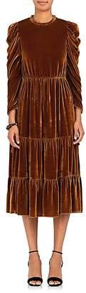 Ulla Johnson Women's Bunny Silk-Blend Velvet Midi-Dress