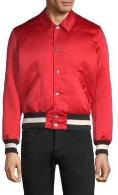 The Kooples Satin Bomber Jacket