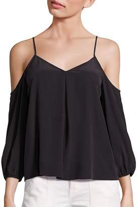 Joie Women's Eclipse Silk Cold-Shoulder Blouse