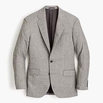J.Crew Ludlow Classic-fit suit jacket in Italian herringbone flannel wool blend