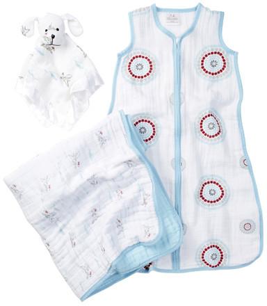 Aden Anaisaden + anais Sweet Dreams Dream Blanket, Lovey & Sleeping Bag Wearable Blanket Gift Set