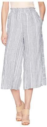 Vince Camuto Variegated Stripe Linen Wide Leg Culottes Women's Skort
