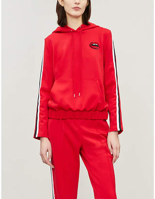 Markus Lupfer Kimmy sequin-embellished jersey hoody