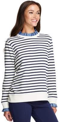 Izod Women's Ruffle-Neck Sweatshirt