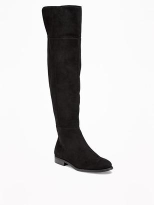 Sueded Over-the-Knee Boots for Women $52.94 thestylecure.com