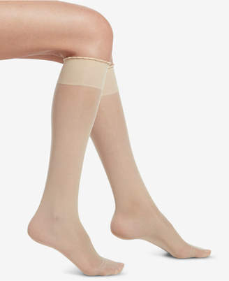 Hue Compression Sheer Knee-High Socks