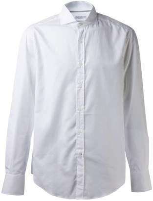Brunello Cucinelli slim spread collar shirt